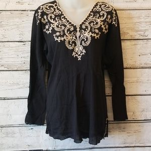 Lucky Brand Embroidered Tunic Extra Small
